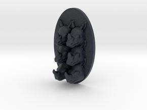 Rhino Multi-Faced Caricature (001) in Black PA12