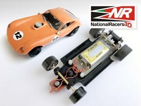 3D Chassis - MRRC Kellison J4-R - Inline in Black Natural Versatile Plastic
