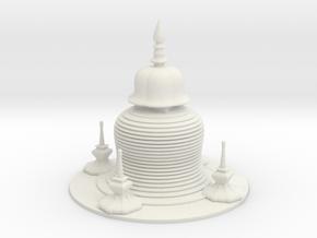 Pagoda in White Natural Versatile Plastic