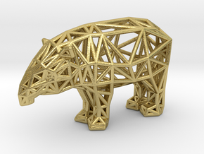 Baird's Tapir (adult male) in Natural Brass