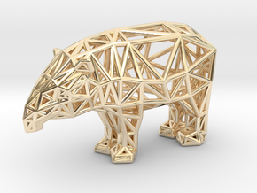 Baird's Tapir (adult male) in 14k Gold Plated Brass