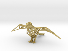 Oxpecker in Natural Brass