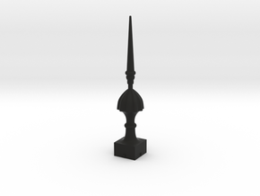 Signal Finial (Victorian Spike) 1:22.5 scale in Black Natural Versatile Plastic