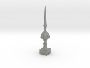 Signal Finial (Victorian Spike) 1:22.5 scale in Gray PA12
