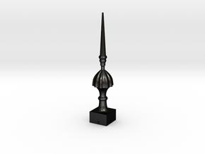 Signal Finial (Victorian Spike) 1:6 scale in Matte Black Steel