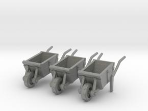 Medieval wheelbarrow 28mm in Gray PA12