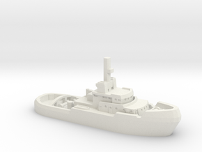 1/1200 Yorkshireman tug in White Natural Versatile Plastic