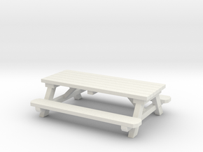 Picnic Tables 01. 1:24 scale  in White Natural Versatile Plastic