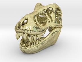 T-Rex Skull 30mm Pendant - Keychain in 18k Gold Plated Brass