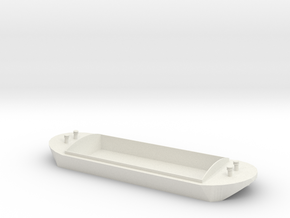 OO / HO / ERTL T&F Barge - Small in White Natural Versatile Plastic