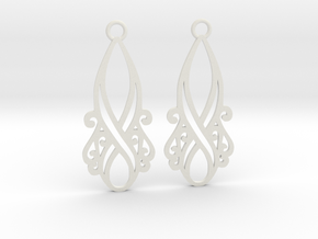 Lorelei earrings in White Natural Versatile Plastic: Large