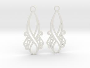Lorelei earrings in White Premium Versatile Plastic: Small