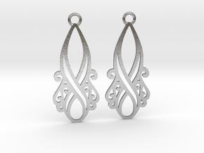 Lorelei earrings in Natural Silver: Small