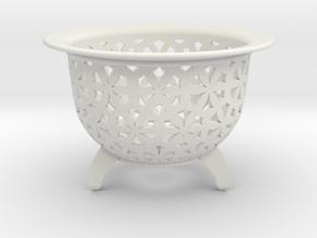 Neo Pot Stars 2.5 in in White Natural Versatile Plastic
