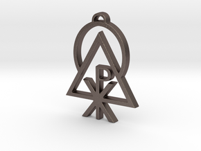 Liberal Catholic Union Sigil (small Pendant) in Polished Bronzed-Silver Steel