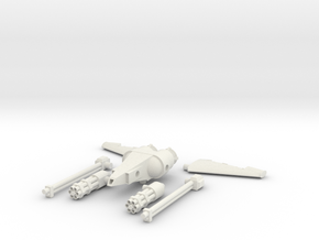 Weapons and Jetpack in White Natural Versatile Plastic