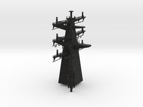 1/96 scale Bergamini - Rear Mast in Black Natural Versatile Plastic