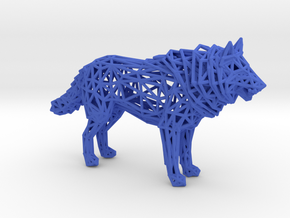 Wolf in Blue Processed Versatile Plastic