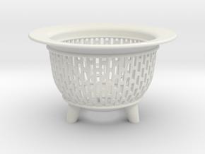 Neo Pot Edges 2.5in.  in White Natural Versatile Plastic