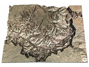 The Grand Canyon Map, North & South Rim in Glossy Full Color Sandstone