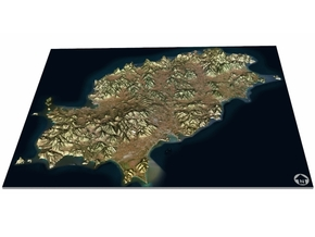 Ibiza Map, Spain in Matte Full Color Sandstone