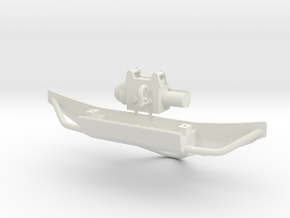 Orlandoo Pajero OH32A02 Front Bumper and winch  in White Natural Versatile Plastic