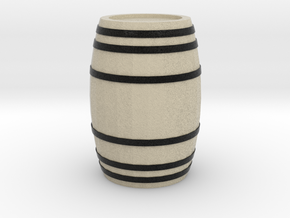 A Wooden Barrel 1:50 in Natural Full Color Sandstone: 1:50