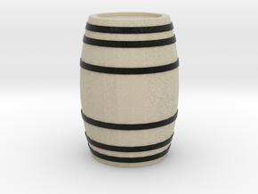 A Wooden Barrel 1:50 in Natural Full Color Sandstone: 1:50