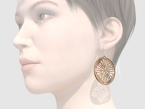 Fluid Earrings in Polished Bronze