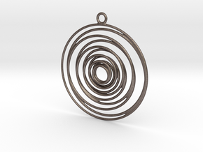 Whirlpool earrings in Polished Bronzed-Silver Steel