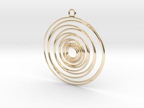 Whirlpool earrings in 14K Yellow Gold