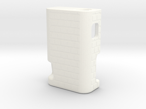 BRCK3D Mech Squonk Mod  in White Processed Versatile Plastic