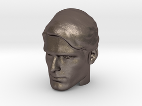 Superman head   Christopher Reeve in Polished Bronzed-Silver Steel
