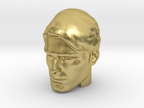 Superman head | Christopher Reeve in Natural Brass
