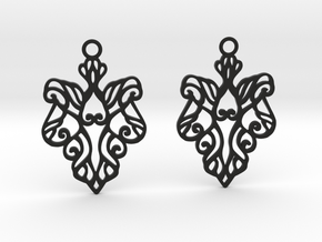 Alarice earrings in Black Natural Versatile Plastic: Small