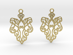 Alarice earrings in Natural Brass: Small