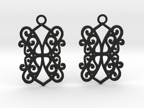 Ealda earrings in Black Natural Versatile Plastic: Small