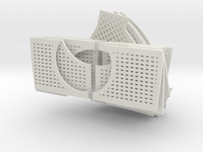 1/6 DKM Uboot VIIC Conning Tower Deck Panel in White Natural Versatile Plastic