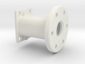 Spare Tire Mount in White Natural Versatile Plastic