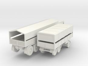 1/120 Faun L1500 D987 German Wehrmacht truck in White Natural Versatile Plastic