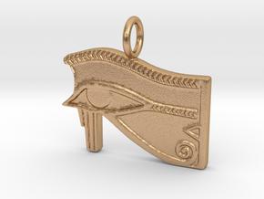 Eye of Ra/Horus amulet in Natural Bronze