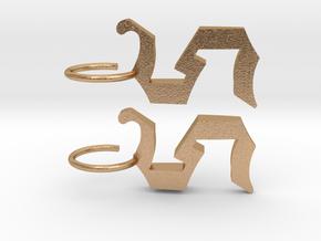 """orecchino """"S"""" in Natural Bronze"""