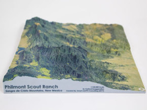 Philmont Scout Ranch Map, New Mexico in Glossy Full Color Sandstone