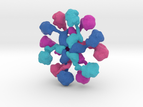CaMKIIa Holoenzyme in Natural Full Color Sandstone