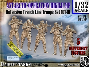 1/32 Antarctic Troops Set101-01 in Smooth Fine Detail Plastic