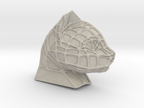 Cat Face + Voronoi Mask (001) in Natural Sandstone