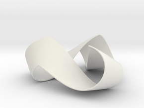 Folded Trigram in White Natural Versatile Plastic: Extra Large