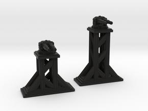 Turrets - GAUSSES in Black Natural Versatile Plastic