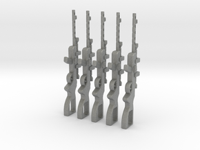 Sniper Rifle Set x5 in Gray Professional Plastic