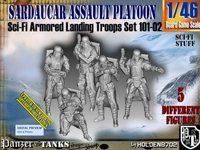 1/46 Sci-Fi Sardaucar Platoon Set 101-02 in Smooth Fine Detail Plastic